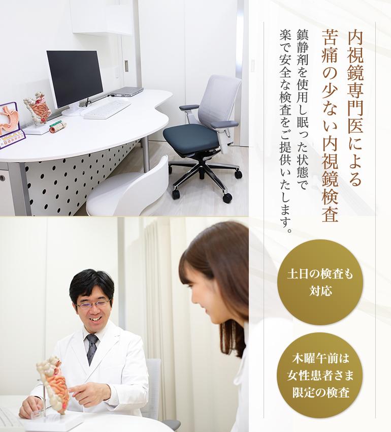 内視鏡専門医による苦痛の少ない内視鏡手術